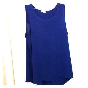 Cobalt blue sleeveless tunic